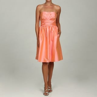 Eliza J Women's Pink Ruche Waistband Dress