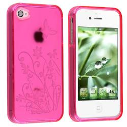 BasAcc Butterfly TPU Case/ LCD Protector/ Headset for Apple iPhone 4