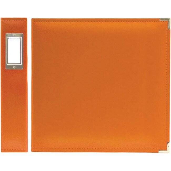 We R Memory Keepers Faux Leather Orange 3-ring Binder