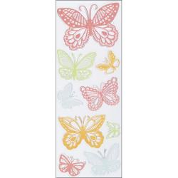 Martha Stewart Doily Lace Butterfly Stamps