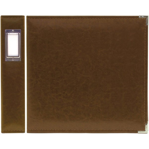 We R Memory Keepers Dark Chocolate Faux Leather 3-ring Binder