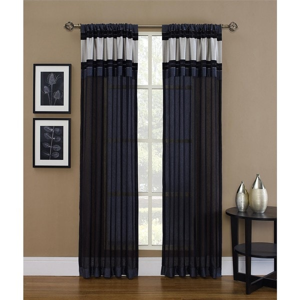 Kent 84-inch Sheer Panel with Metallic Accent