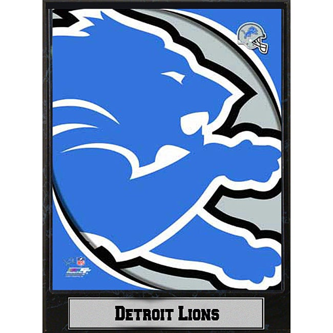 2011 Detroit Lions Logo Plaque