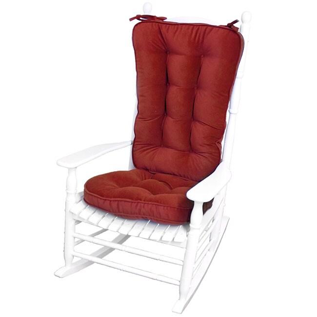 Scarlet Microfiber Reversible Rocking Chair Jumbo-size Cushion Set