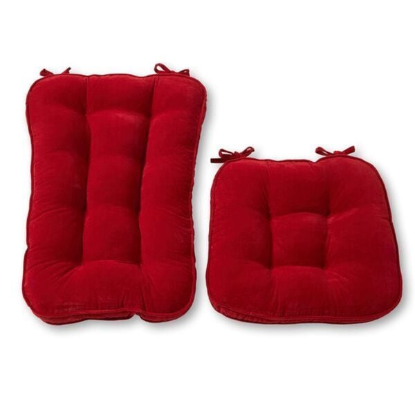 Scarlet Microfiber Reversible Rocking Chair Jumbo-size Cushion Set