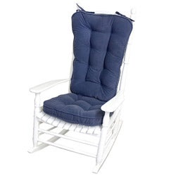 Denim Microfiber Reversible Rocking Chair Jumbo-size Cushion Set