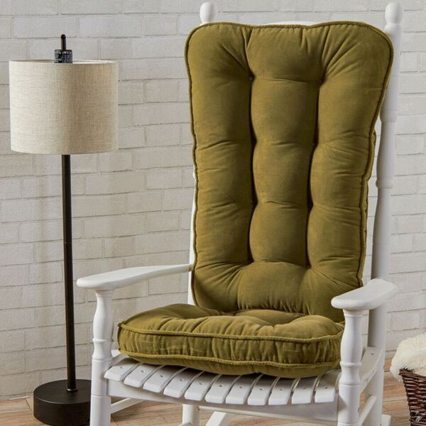 Moss Microfiber Reversible Rocking Chair Jumbo-size Cushion Set