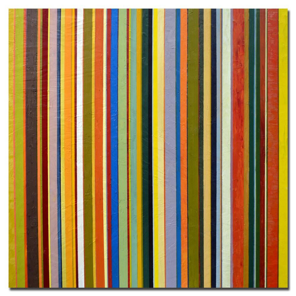 Michelle Calkins 'Comfortable Stripes' Canvas Art