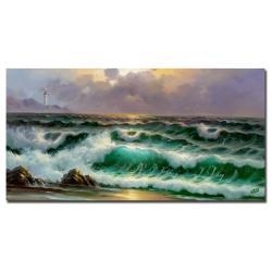 Rio 'Waves III' Canvas Art