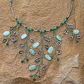 Stainless Steel 'Tree of Life' Quartzite Necklace (Thailand)