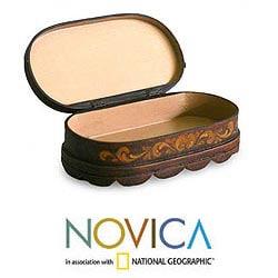 Handcrafted Cedar Wood 'Reminisce' Jewelry Box (Peru)