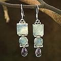 Sterling Silver 'Mystic Alliance' Multi-gemstone Earrings (India)
