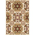 Chime Ivory/ Multi Area Rug (5'3 x 7'7)