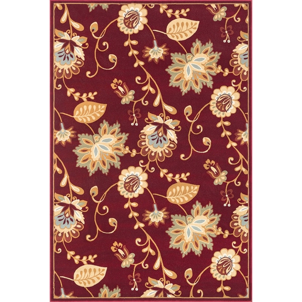 Chime Red Area Rug (7'7 x 10'6)