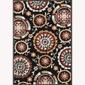 Chime Black Area Rug (7'7 x 10'6)