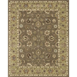 Hand-tufted Mason Mocha/ Light Gold Wool Rug (5' x 7'6)