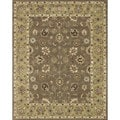 Hand-tufted Genus Mocha/ Light Gold Wool Rug (5' x 7'6)