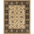 Hand-tufted Genus Beige/ Black Wool Rug (7'9 x 9'9)