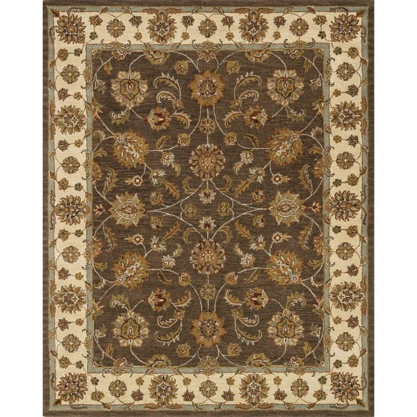 Hand-tufted Mason Brown/ Beige Wool Rug (8' x 11')