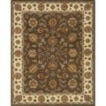Hand-tufted Genus Brown/ Beige Wool Rug (8' x 11')