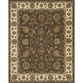 Hand-tufted Genus Brown/ Beige Wool Rug (5' x 7'6)