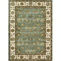 Hand-tufted Genus Blue/ Beige Wool Rug (5' x 7'6)