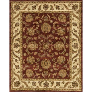 Hand-tufted Mason Red/ Beige Wool Rug (7'9 x 9'9)