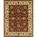 Hand-tufted Genus Red/ Beige Wool Rug (7'9 x 9'9)