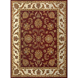 Hand-tufted Mason Red/ Beige Wool Rug (8' x 11')