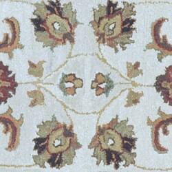 Hand-tufted Genus Beige/ Gold Wool Runner Rug (2'3 x 8')