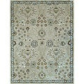 Hand-tufted Genus Beige/ Blue Wool Rug (8' x 11')
