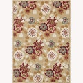 Power-loomed Chime Beige Rug (3'10 x 5'7)
