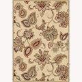 Power-loomed Chime Ivory Rug (5'3 x 7'7)