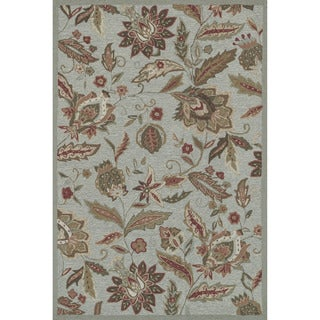 Hand-hooked Charlotte Blue Rug (3'6 x 5'6)