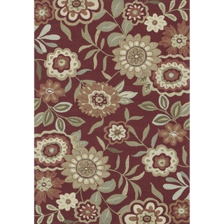 Hand-hooked Charlotte Red Rug (3'6 x 5'6)