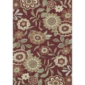 Hand-hooked Charlotte Red Rug (5' x 7'6)