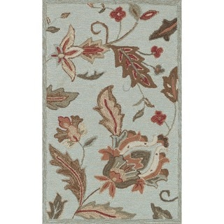 Hand-hooked Charlotte Blue Rug (2'3 x 3'9)