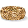 Lillith Star 14k Goldplated Champagne Crystal Stretch Bracelet