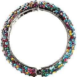 Lillith Star Black Ruthenium Multi-colored Crystal Bangle Bracelet