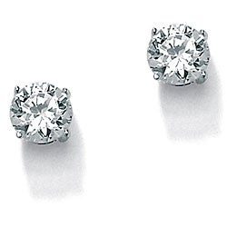 Ultimate CZ Sterling Silver Cubic Zirconia Stud Earrings