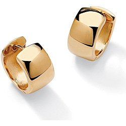 Toscana Collection 18k Gold over Silver Cuff Earrings