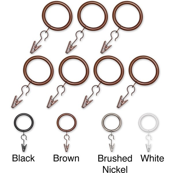 Elegant Touch Curtain Hardware Rings (Set of 14)