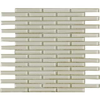 Smoke 0.5x4-inch Shiny Glass Tiles (Pack of 11)