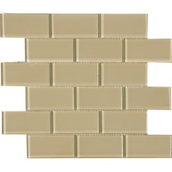 Fawn 2x4-inch Shiny Glass Tiles (Pack of 11)