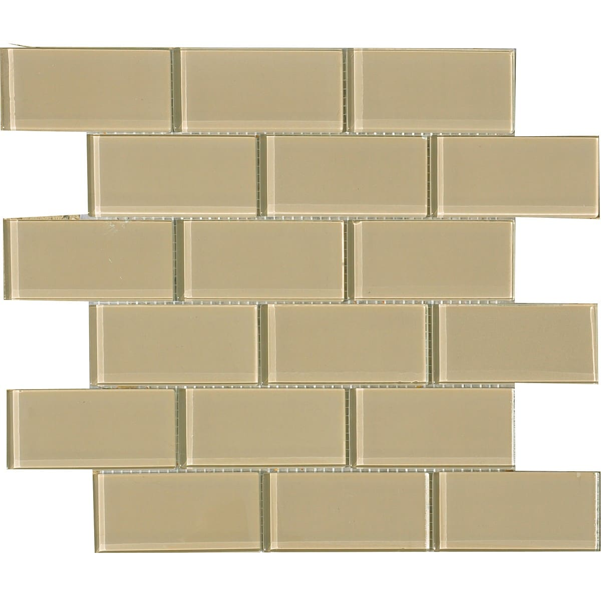 fawn 2x4 inch shiny glass tiles pack of 11 overstock shopping