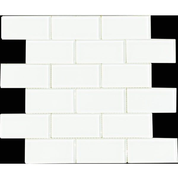 Cotton 2x4-inch Shiny Glass Tiles (Pack of 11)