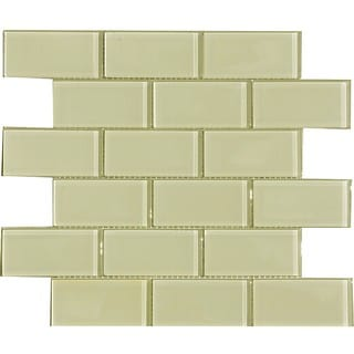 Vanilla Cream 2x4-inch Shiny Glass Tiles (Pack of 11)