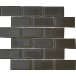 Espresso Brown 2x4-inch Shiny Glass Tiles (Pack of 11)