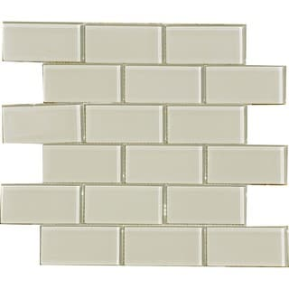 Smoke 2x4-inch Shiny Glass Tiles (Pack of 11)
