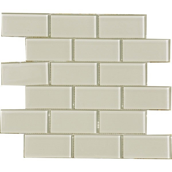 smoke 2x4 inch shiny glass tiles pack of 11 13796174 overstock